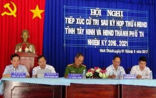 Đại biểu HĐND hai cấp tiếp xúc cử tri TP.Tây Ninh và Hoà Thành