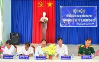 Đại biểu HĐND hai cấp tiếp xúc cử tri thành phố Tây Ninh và huyện Tân Châu