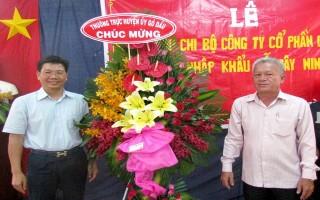Thành lập Chi bộ Công ty CP chế biến, xuất nhập khẩu Gỗ Tây Ninh
