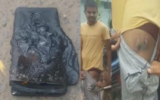 """Smartphone """"nhái"""" Galaxy Note 7 bất ngờ phát nổ trong túi người dùng"""