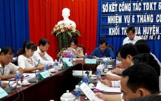 Khối Thi đua các huyện, thành phố sơ kết công tác 6 tháng đầu năm 2017