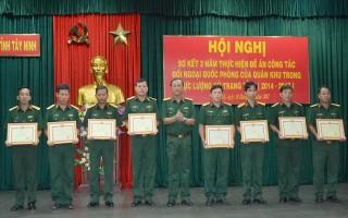 Bộ CHQS Tây Ninh: Tổng kết 3 năm thực hiện đề án đối ngoại quốc phòng