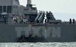 Mỹ cách chức Tư lệnh Hạm đội 7 sau vụ va chạm tàu ở châu Á