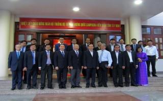 Bộ trưởng Bộ Tư pháp Campuchia chào xã giao lãnh đạo tỉnh Tây Ninh