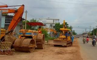 Hoà Thành: Thi công mở rộng đường Nguyễn Văn Linh