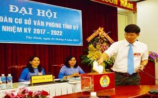 Văn phòng Tỉnh ủy tiến hành Đại hội Công đoàn cơ sở