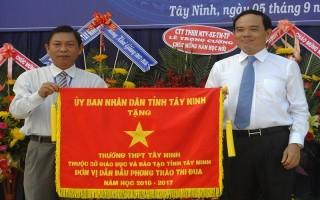 Bí thư Tỉnh uỷ dự lễ khai giảng tại Trường THPT Tây Ninh
