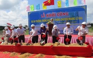 Khởi công xây dựng Trường THPT chuyên Hoàng Lê Kha