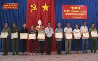 Châu Thành: Rút kinh nghiệm diễn tập khu vực phòng thủ 2017