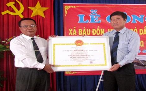 Công nhận xã Bàu Đồn đạt chuẩn nông thôn mới