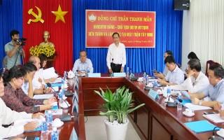 Chủ tịch Uỷ ban Trung ương MTTQVN: Thăm và làm việc tại Tây Ninh