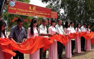 Khánh thành cầu nông thôn ở ấp Phước Giang