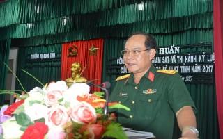 Đảng ủy quân sự Tây Ninh: Tập huấn công tác kiểm, tra giám sát và thi hành kỷ luật Đảng