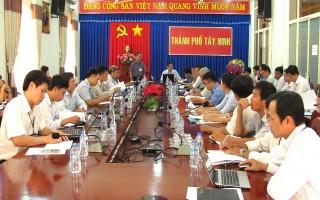Kiểm tra công tác cải cách hành chính ở Thành phố Tây Ninh