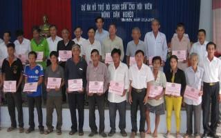 Tân Biên: Giải ngân vốn dự án hỗ trợ bò sinh sản cho hội viên nông dân