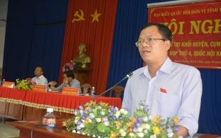 ĐBQH tiếp xúc cử tri huyện Dương Minh Châu.