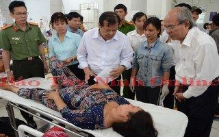 Chủ tịch UBND tỉnh thăm các nạn nhân vụ tai nạn giao thông