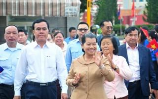 Đón tiếp Đoàn Hội Hữu nghị Campuchia-Việt Nam