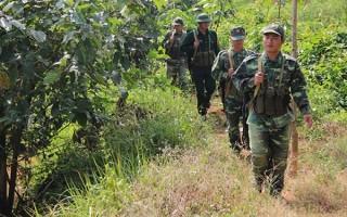 Giao ban lực lượng làm nhiệm vụ đảm bảo an ninh trật tự tuyến biên giới