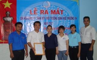 Thành lập Chi hội thanh niên Công ty Môi trường xanh Huê Phương Việt Nam