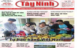 Điểm báo in Tây Ninh ngày 14.10.2017