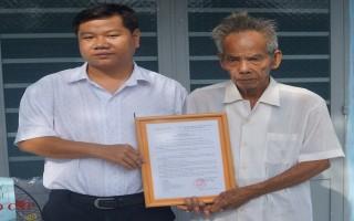 Tặng nhà nhân ái cho người nghèo phường Hiệp Ninh