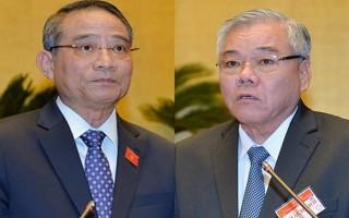 Quốc hội tiến hành phê chuẩn miễn nhiệm 2 'Tư lệnh' ngành