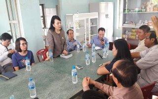 Bộ trưởng Y tế kiểm tra công tác khắc phục hậu quả bão số 12