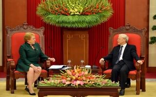Tổng Bí thư Nguyễn Phú Trọng tiếp Tổng thống Chile