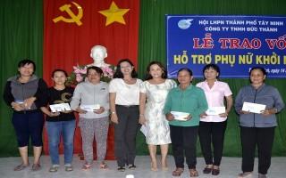 TP.Tây Ninh: Trao vốn hỗ trợ phụ nữ khởi nghiệp