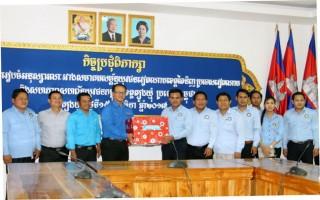 Thăm và làm việc với Hội Thanh niên tỉnh Tbong Khmum