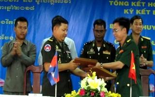 Ban CHQS thành phố Tây Ninh tổng kết hoạt động hợp tác với Chi khu Quân sự thành phố Prey Veng