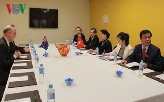 Chủ tịch Quốc hội gặp Chủ tịch Hội hữu nghị Australia - Việt Nam