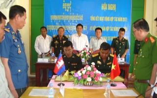 Tổng kết hoạt động hợp tác với Chi khu Quân sự thành phố Svay Rieng
