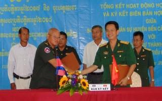 Tăng cường hợp tác quốc phòng giữa Ban CHQS các huyện biên giới và Chi khu quân sự thuộc Campuchia