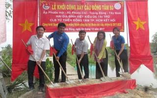 Khởi công xây dựng cầu bê tông ở xã Phước Chỉ