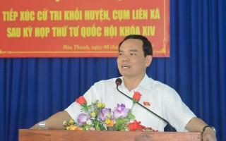 Đoàn đại biểu Quốc hội đơn vị tỉnh Tây Ninh tiếp xúc cử tri sau kỳ họp thứ 4 (Quốc hội khóa XIV)