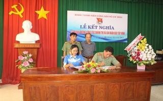 Chi đoàn Báo Tây Ninh kết nghĩa với Chi đoàn Phòng Công tác chính trị CATN