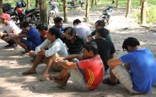 Công an huyện Dương Minh Châu triệt xoá 2 tụ điểm đánh bạc