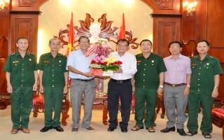 Gặp mặt Đoàn đại biểu Tây Ninh tham dự Đại hội đại biểu Hội Cựu chiến binh Việt Nam