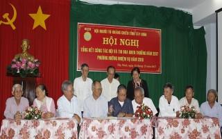 Hội Người tù kháng chiến Tây Ninh tổng kết hoạt động năm 2017