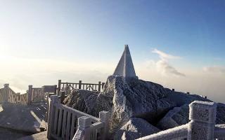 Xuất hiện băng tuyết trên đỉnh Fansipan