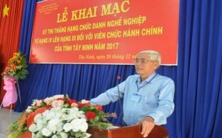 80 thí sinh tham dự kỳ thi thăng hạng viên chức hành chính năm 2017