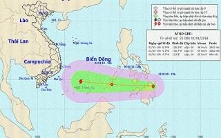 Áp thấp nhiệt đới đang mạnh lên và di chuyển nhanh về Biển Đông, miền Bắc trời rét