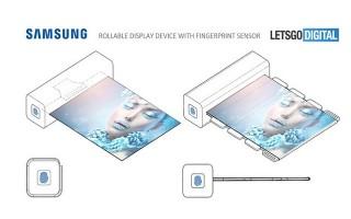 Samsung xin cấp sáng chế màn hình cuộn tròn, tích hợp cảm biến vân tay