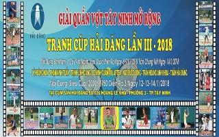 Tổ chức giải quần vợt Tây Ninh mở rộng, tranh cúp Hải Đăng J.S.C lần 3