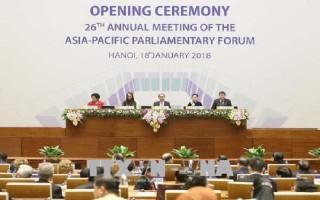 Khai mạc Diễn đàn hợp tác Nghị viện châu Á-Thái Bình Dương APPF-26