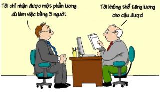 Không thể tăng lương cho nhân viên chăm chỉ