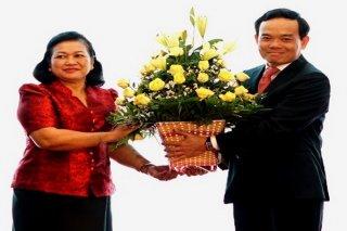 Lãnh đạo các tỉnh Campuchia chúc Tết cổ truyền Việt Nam tại Tây Ninh