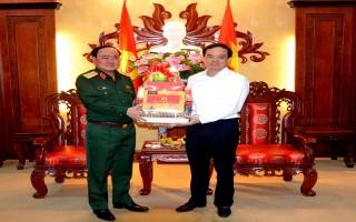 Thứ trưởng Bộ Quốc phòng thăm, chúc tết tại Tây Ninh